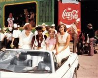 1980 Carnival Queen and attendants ready for the procession.