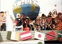 1980 Carnival float - the whole world came along
