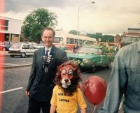 1993 Lion President Martin and a little Lion