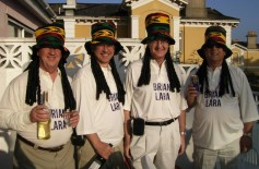 Lions Ron, Martin, Ken & Phil or is it Brian Lara & Bob Marley at District Convention