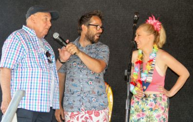Malcolm Stent open carnival with compare Mark Daniels and Lions President Andrea Lees